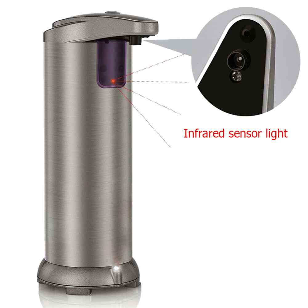 280ml automatyczny czujnik mydło w płynie dozownik do montażu na ścianie pompa ze stali nierdzewnej prysznic szampon butelki do toalety 2019 nowy