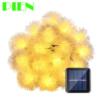 Solar Outdoor String Fairy Lights 15ft 20 LED Ball For Homes Christmas Gardens Wedding Party Deco