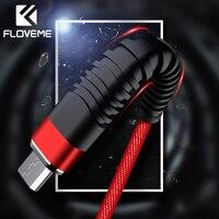 FLOVEME 1M Hohe Zug-Micro USB Kabel C Typ-C 2A Ladegerät Daten Sync Nylon Geflecht Kabel Für iPhone Samsung Ladekabel
