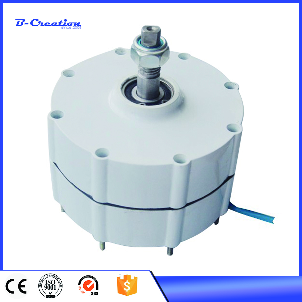 Générateur d'éolienne 600 W 12 V/24 V/48 V démarrage à basse vitesse générateur à aimant permanent NdFeB/coque en aluminium pour bricolage