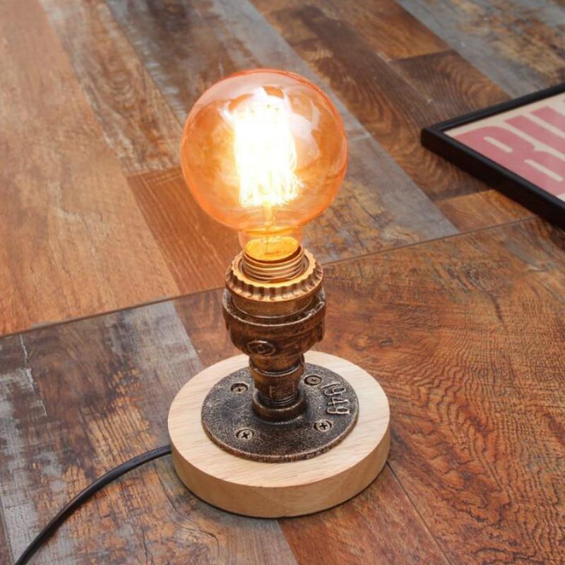 Loft American antique industrial wind Bar table light Cafe personalized creative led plumbing bedroom bedside light LU8141350
