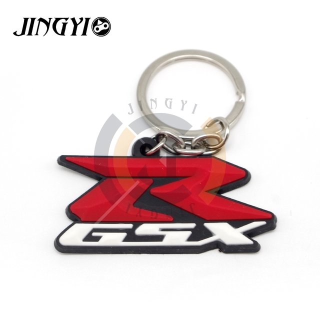 2019 NOVO PARA suzuki gsxr 1000 k7 suzuki gsxr 600 gsxr 750 Acessórios Da Motocicleta Moto Keychian Chaveiro de Borracha Macia 3D Chave Anel