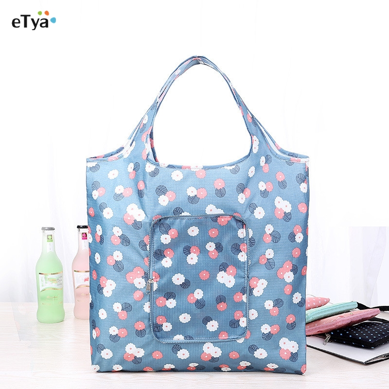 eTya Fashion Eco friendly Shopping Bag foldable with Zipper Women