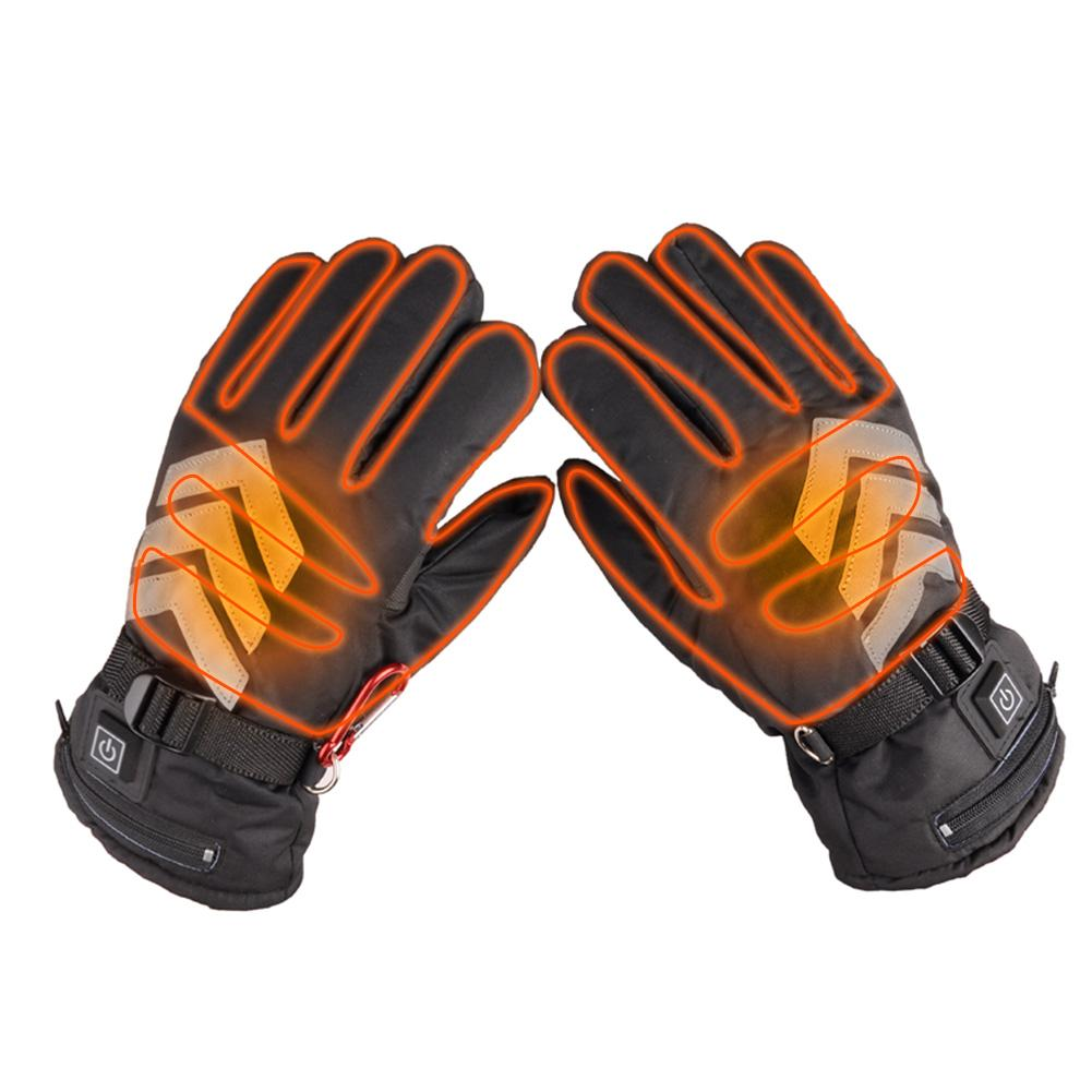 Three-speed Thermostat Electric Heating Reflective Duty Gloves Motorcycle Electric Car Heating Gloves Lithium Battery Powered