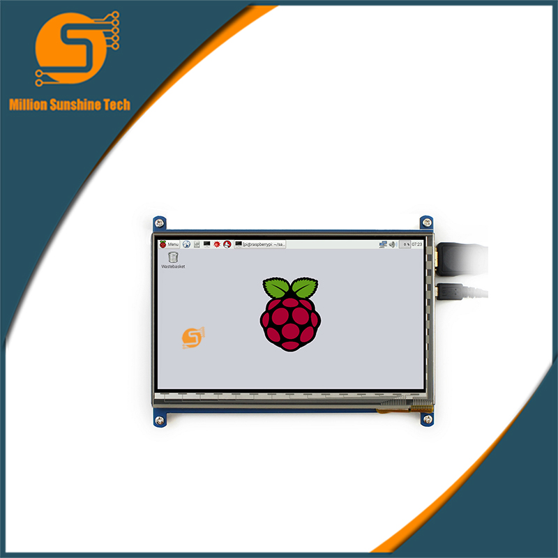 New Arrival 7 Inch 1024 x 600 HDMI Capacitive IPS LCD Module 5 Point Touch Screen Support Raspberry pi LCD Display мультиварка polaris pmc0516adg коричневый какао pmc0516adg коричневый какао