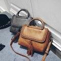 New Fashion Women pu leather shoulder bags Vintage Tassel Messenger Bag Luxury Ladies Handbag Clutch Bags Bolsa Feminina XD3914
