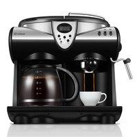 20Bar American/Italian 2 Flavors Espresso Coffee Maker Machine Double Pumps Cappuccino Latte Macchiato Mocha Milk Froth