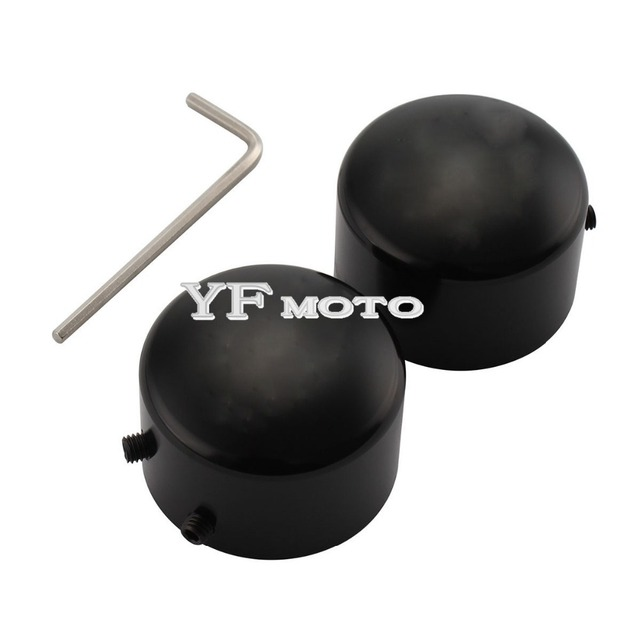 Motorcycle Black Front Axle Cover Bolt For  Sportster XL883 1200 Dyna Softails Electra Glides