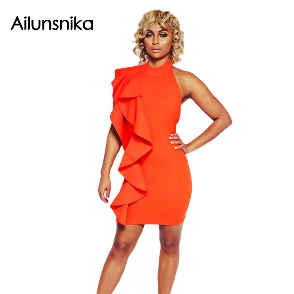 Ailunsnika 2017 mujeres del verano atractivas de la manera de orange blanco de u