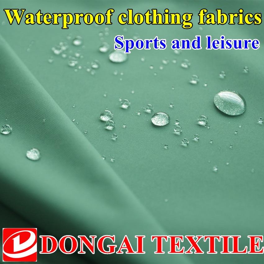 1,5 m * 1 m gehobene Outdoor-Freizeitsportbekleidung wasserdicht Grid Polyester Pongee Stoff