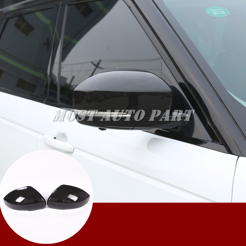 Carbon Fiber Style Rearview Mirror Cover For Land Rover Range Rover Sport 2014 2019