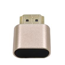 Acessórios de Computador de Exibição adaptador Emulador Placa Bloco VGA Virtual 1920x1080 4K Dummy Plug Conector de Travamento Sem Cabeça HDMI