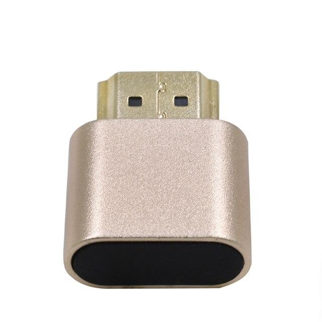 محول عرض المحاكي ملحقات الكمبيوتر كتلة لوحة VGA الظاهري 1920x1080 4K الدمية التوصيل مقطوعة الرأس موصل قفل HDMI