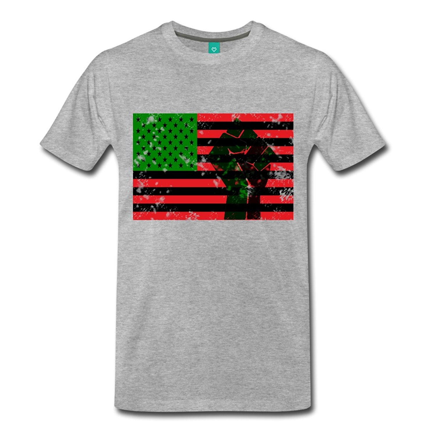 Pan African Flag With Fist Mens Premium T-Shirt Men T Shirt 2018 Summer 100% Cotton Newest 2018 MenS Fashion Fashion Classic