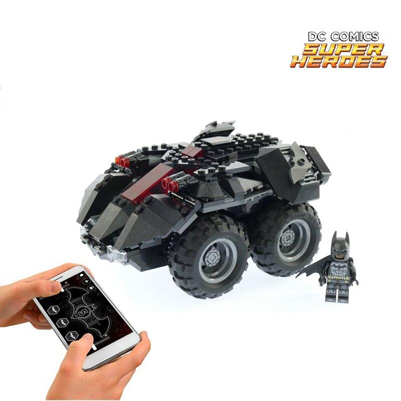 DC Superheros Batmobile Car Batman Joker Legoings 7888 Model Building Briks