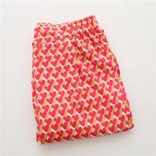 Сердца домашняя форме сна летние длинные пижамы женские брюки одежда женщин