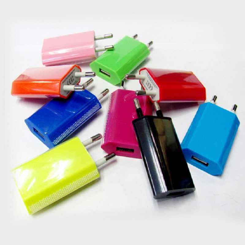 الاتحاد الأوروبي محول القابس 5 فولت 1A USB الجدار شاحن آيفون 5 5s 6 ل LG غالاكسي S3 S4 نوت 3 نوت 4 N9000 شاحن الهاتف المحمول الاتحاد الأوروبي التوصيل