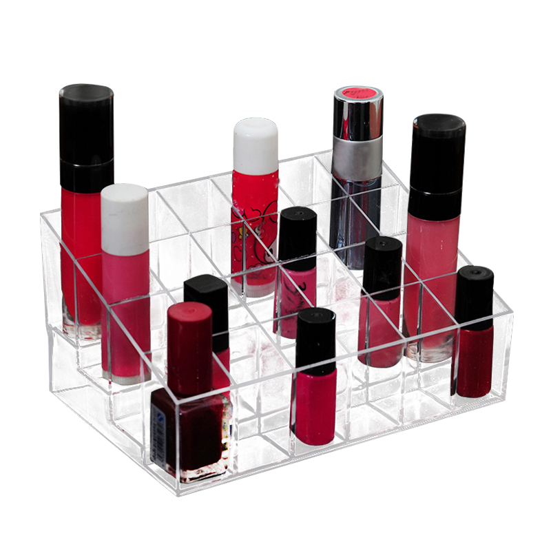 Lipstick Makeup Boxes Plastic Lip Balm Storage Tools Cosmetic Rack Organizer Desktop Case Accessories Supplies Gear Item Product