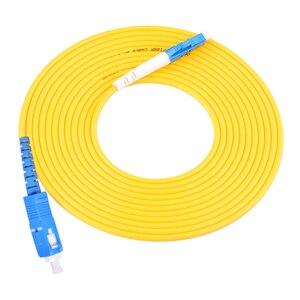 Image 2 - 10 stücke fibra optica ftth patchkabel LC/UPC SC/UPC single mode Simplex PVC Kabel 3,0mm 3 meter faser patchkabel jumper