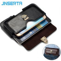 JINSERTA Universal Waist Bag PU Leather Case Holster Pack With Belt Loop For IphoneX 7 8plus