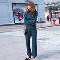 2016 fall fashion sweater  knitted suit code lady Korean large wide leg pants Jisu in Kyrgyzstan