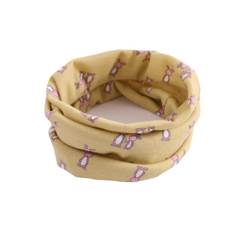 Детский хлопковый шейный шарф с милым принтом; детский теплый шарф; Детские воротники; осенне-зимний шарф-кольцо для мальчиков и девочек; аксессуары для детской одежды - Цвет: wb022