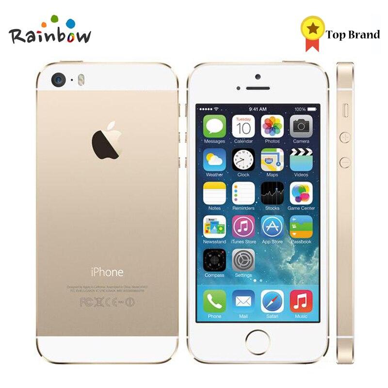 D'origine Apple iPhone 5S Débloqué 16 GB/32 GB ROM 8MP Caméra 1136x640 pixel WIFI GPS Bluetooth cellulaire téléphone multi langue