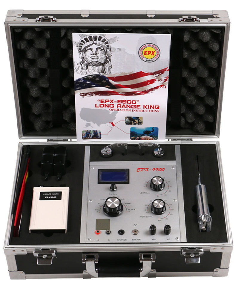EPX9900 Metal And Treasure Detector Long Rang For Gold Silver Copper P.G Tin Aluminum And Jewel  Gold Finder