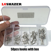 50pcs/lot fishing field treble hooks 2#4#6#8#10#stainless-steel circle hooks hamecon carbone fishing accesssories tackles