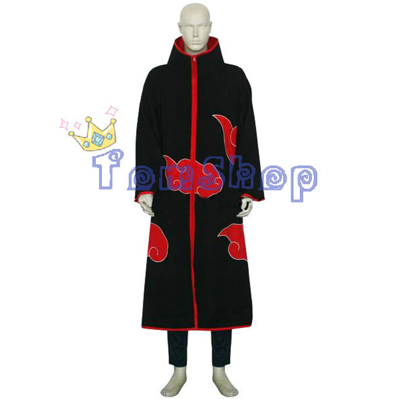 Anime Naruto Akatsuki Sasori Deluxe Edition Cosplay Costume 4 in 1 Wholesale Combo Set (Cloak+Headband+Boots+Ring) Free Shipping