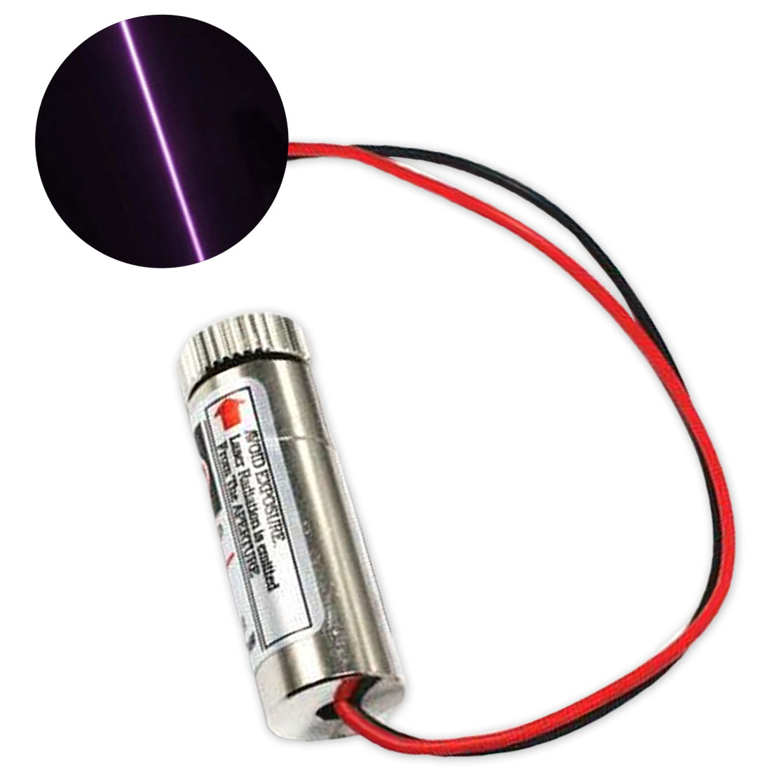 1pcs 650nm 5-30mW Red Point  Laser Module Head Glass Lens Focusable Industrial Class