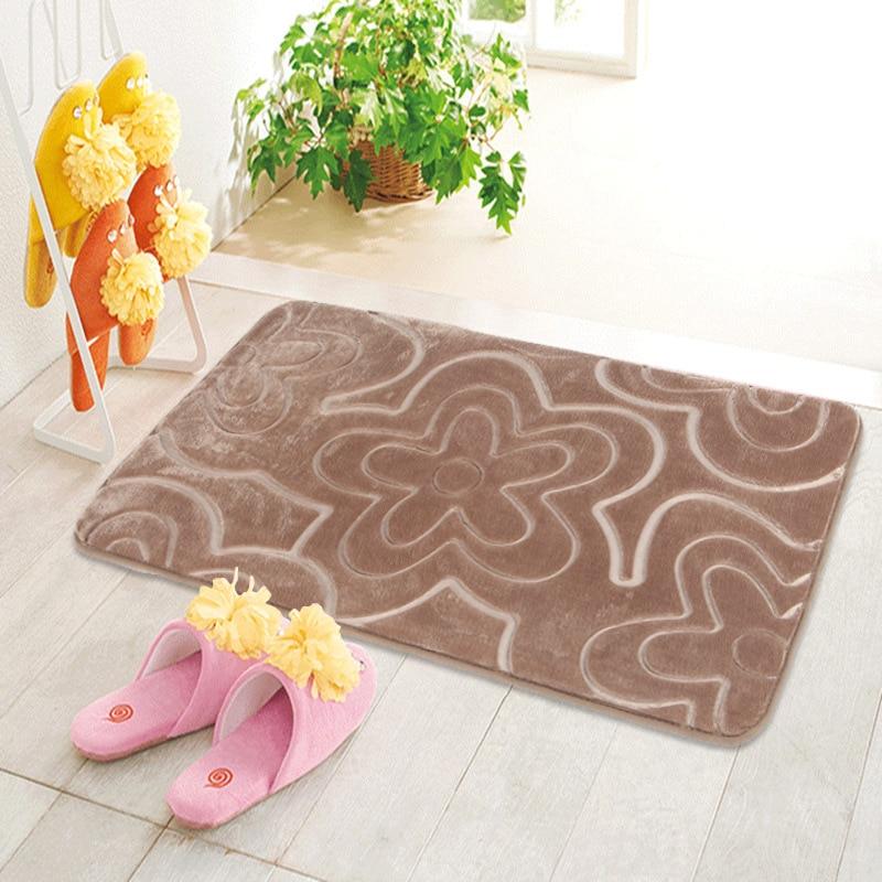 1PCS Memory Foam Bath Mat flower pattern Bathroom carpet ...