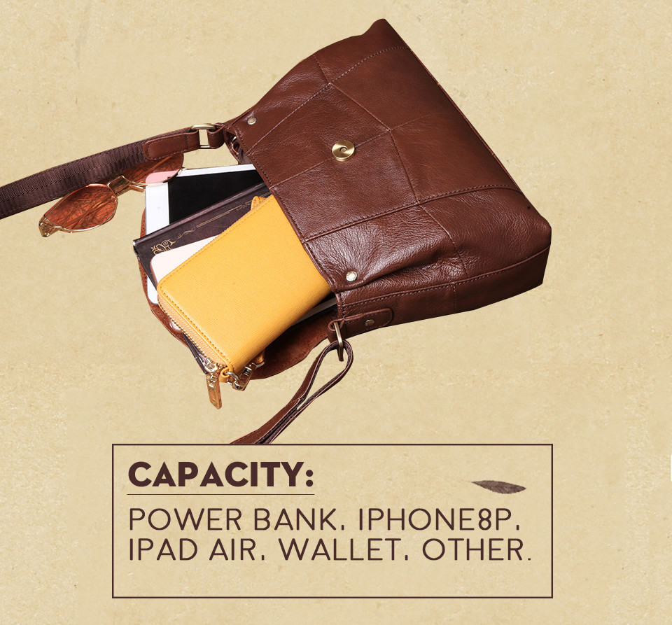 bolsas حقائب الكتف النسائية جلد طبيعي العلامة التجارية 6
