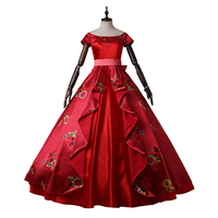 Elena of Avalor Ccosplay Costume Princess Dress Hot Cartoon Halloween Outfit for Women Girls Lovely Red Skirt Custom Made