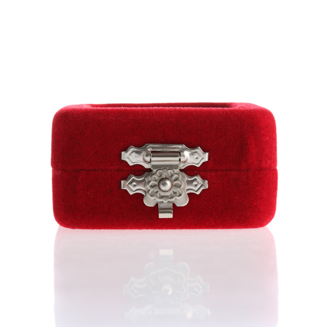 1 Pc Red Velvet Gift Jewelry Box Case Display Holder for Ring