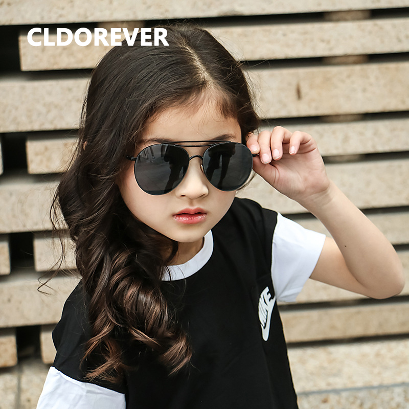 Parenting Style 2018 Vintage Sunglass Aviator Sunglasses Women Girls Brand Mirror Sun Glasses For Children Baby Oculos Infantil