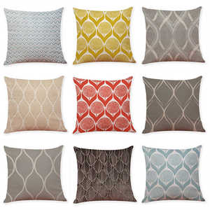 Image 3 - Colorful Pattern Pillowcases Cover Super soft fabric Home Cushion Simple Geometric Throw Bedding Pillow Case Pillow Covers