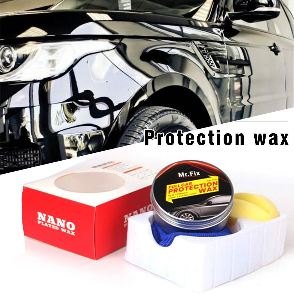 Car Wax Crystal Hard Wax Paint Premium Carnauba  Care Scratch Repair Maintenance Wax Paint Surface Coating Free Sponge And Towel