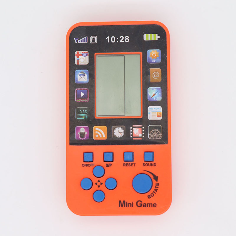 KaRue DataFrog Portable Childhood Tetris Handheld Game Players Mini Game Console For Children Intelligence Toys  Games