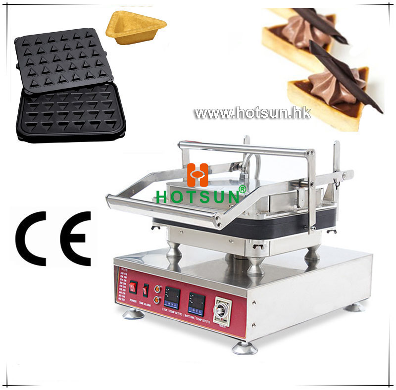 Free Shipping Heavy Duty Non-stick 110V 220V Electric 30pcs Ice Cream Triangle Shape Waffle Maker Machine with Removable Plate commercial heavy duty non stick 220v electric ribbed