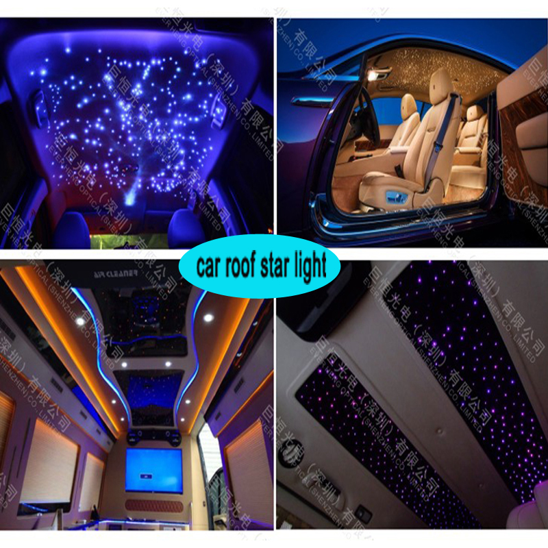 Free Shipping Mini Led Light Engine Car Roof Top Decorative Star Ceiling Fiber Optic Kit 0 75mm 250piece 3meter In Lights From