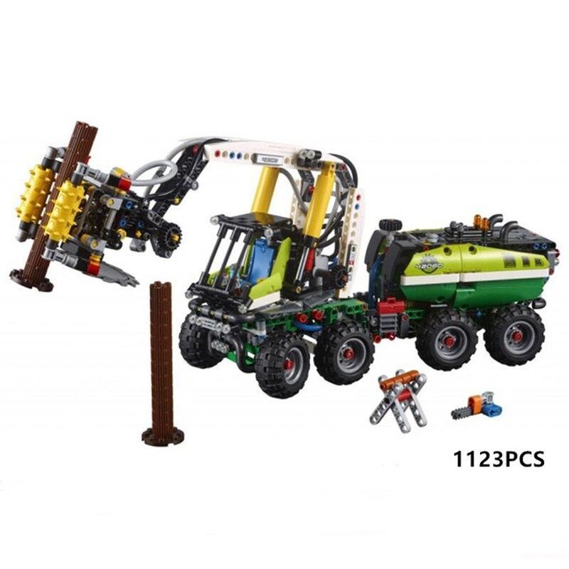Nouvelle technique forêt moissonneuse drôle voiture jouets Compatible Legoing technique voiture Buidling bricolage blocs briques jouets cadeaux de noël