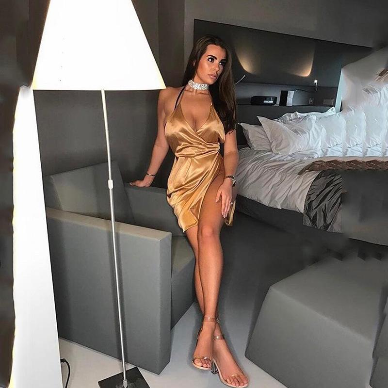 HTB1WVVIXuEJL1JjSZFGq6y6OXXa9 - Women Sexy Backless Split Dress JKP086
