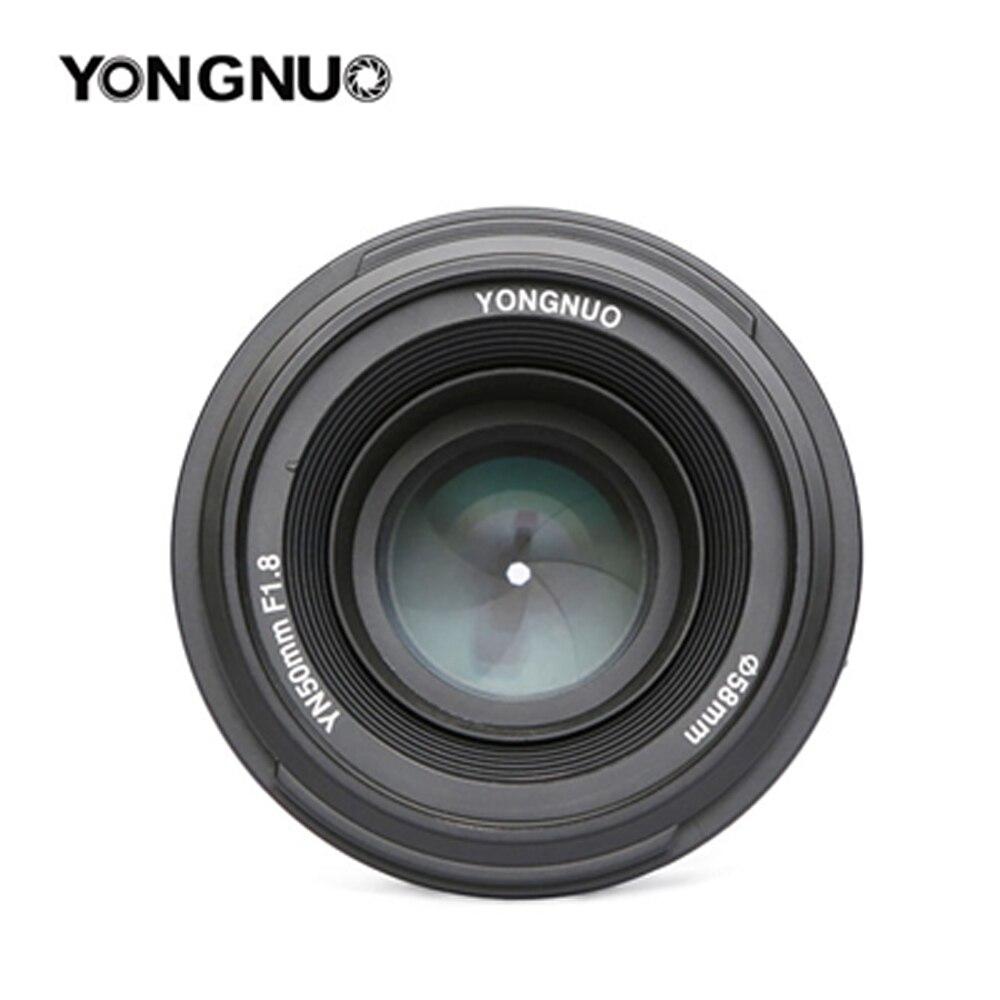 Objectif d'origine pour appareil photo YONGNUO 50mm f1.8 à grande ouverture mise au point automatique pour NIKON d5200 d3300 d5300 d90 d3100 d5100 s3300 d5000 - 2