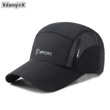 XdanqinX 2019 New Breathable Hat Mesh Ventilation Baseball Cap Adjustable Size Mens Brands Caps Adult Womens Snapback