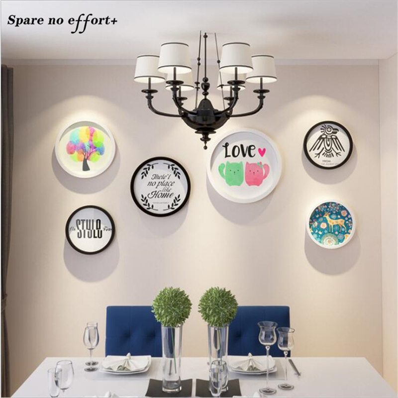 Simple Modern Round Photo Frame Wall Decoration Cadre ...