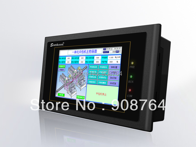 touch screen HMI TP touch screen new brand Samkoon 4.3 inch  for industrial PLC   with RS232+ RS485 + USB +touch panel