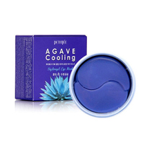Petitfee agave resfriamento hidrogel máscara de olho 60 pçs remendos de olho cuidados com a pele hidratante anti rugas branqueamento máscaras coreia cosméticos