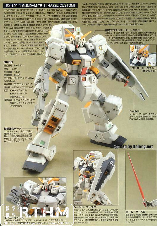 Image result for HGUC 1/144 RX-121-1 Gundam TR-1 Hazel Custom