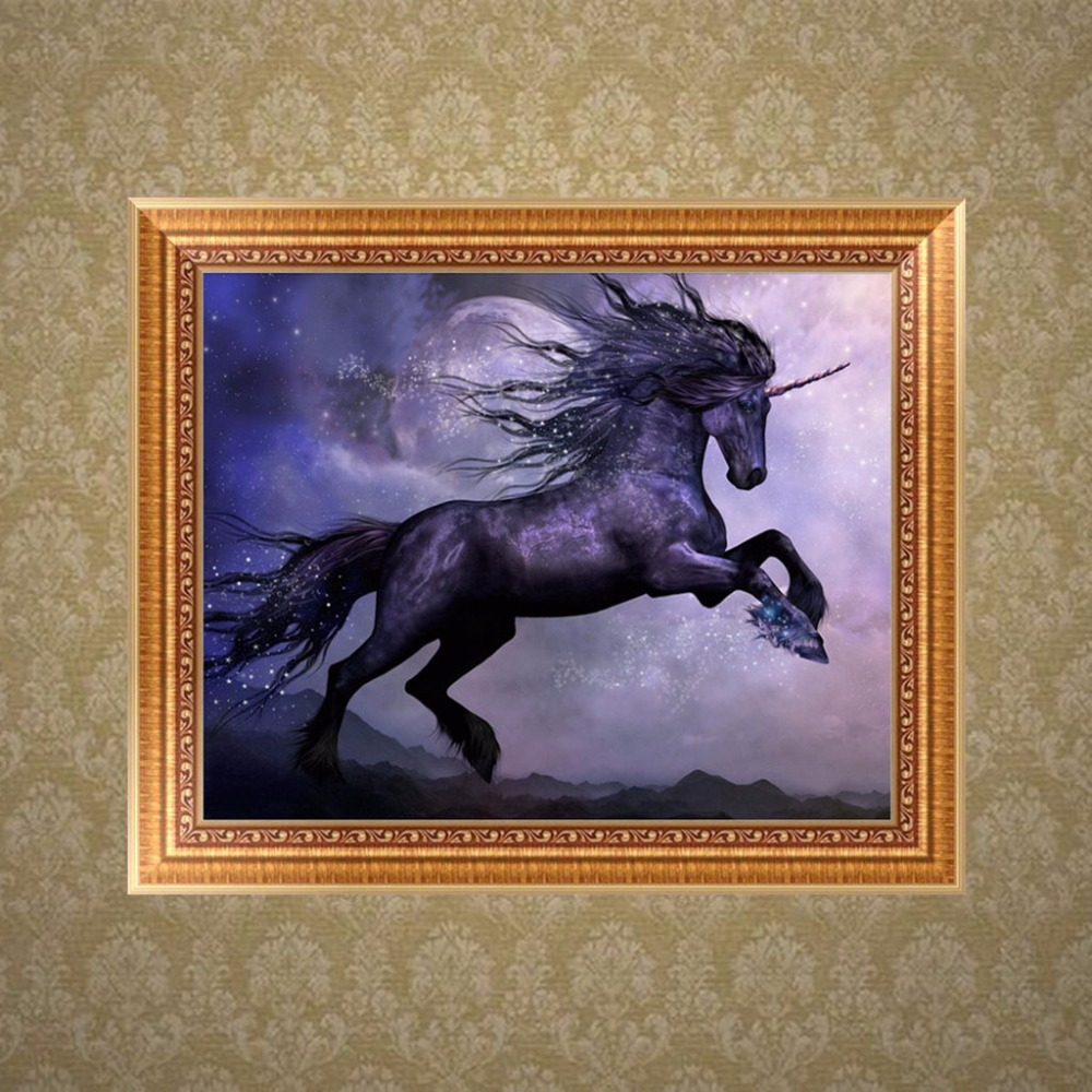 DIY 5D Horse Jump Diamond Embroidery Painting Cross Stitch Craft Home Decor Kit -P101